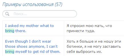 Примеры использования слов