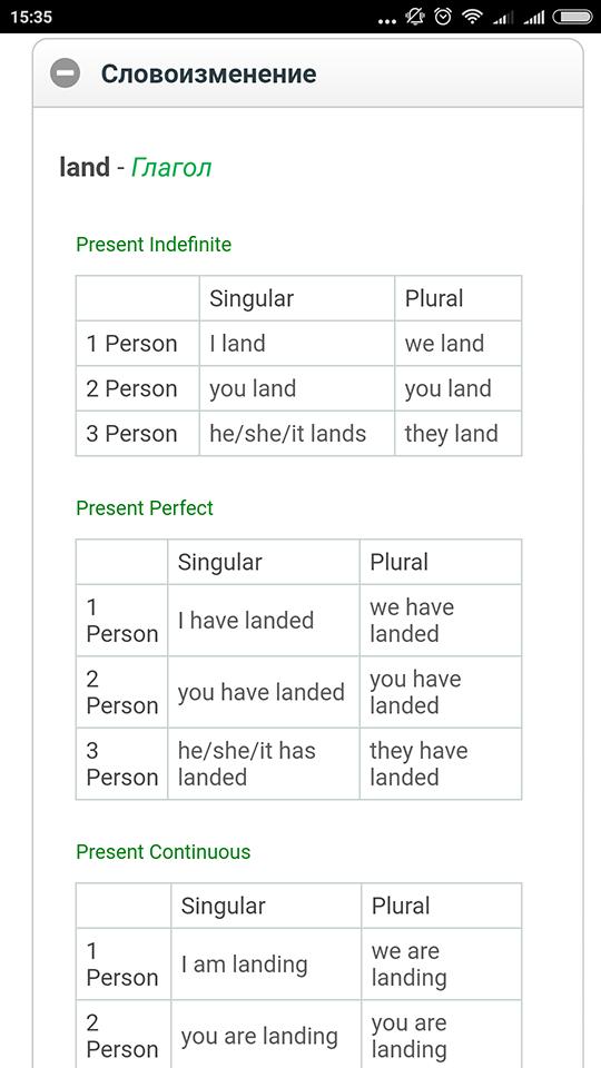 Грамматика, склонение, спряжение, дополнительные примеры переводов и словосочетания