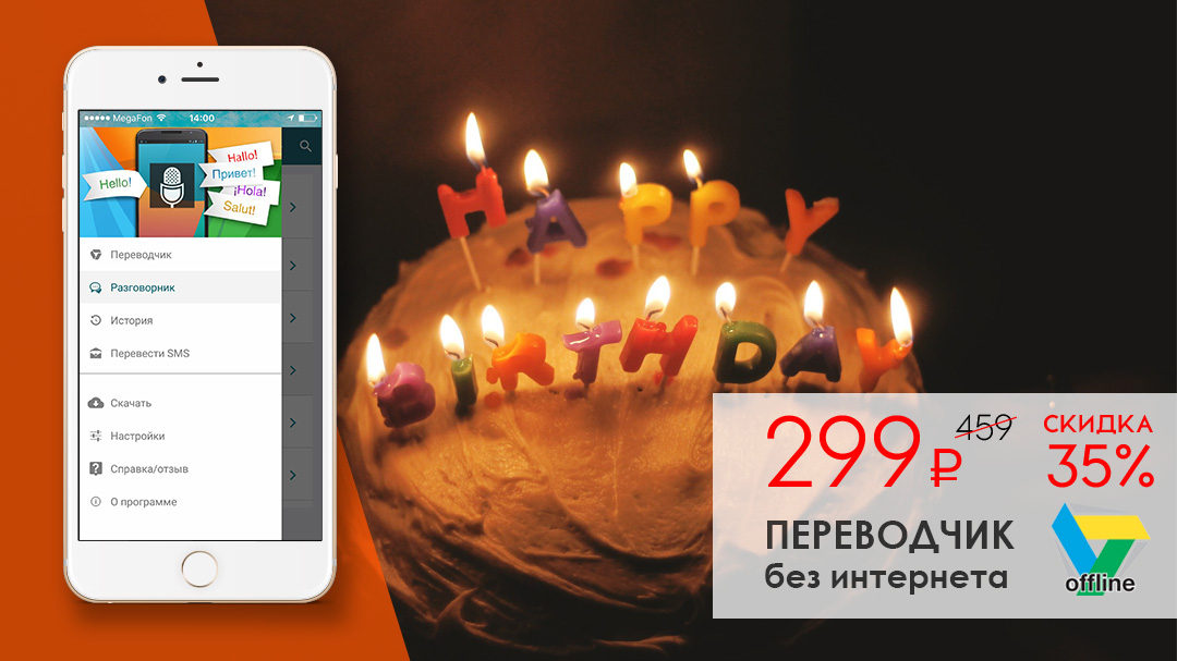 Подарки и новости в честь дня рождения Translate.Ru